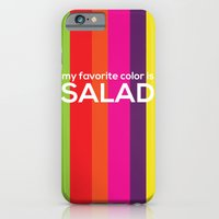 iPhone & iPod Case featuring My favorite color is salad by ColorisBrave