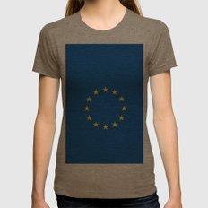 European's flag Womens Fitted Tee Tri-Coffee SMALL
