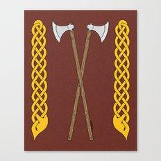 Danish Axes Crossed Canvas Print