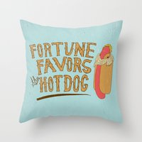 LUCKY DOG Throw Pillow