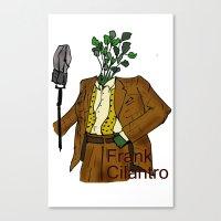 Frank Cilantro Canvas Print