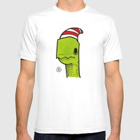Ben The Turtle Mens Fitted Tee White SMALL