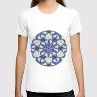 Delft snowflake Womens Fitted Tee White SMALL