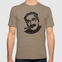 Groucho Marx Mens Fitted Tee Tri-Coffee SMALL