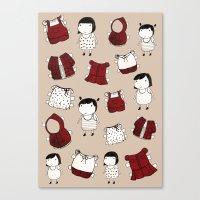 paper dolls Canvas Print