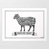 Empathy Chart, Sheep/lam… Art Print