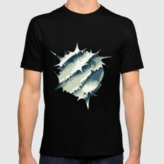 Explosions in the water SMALL Black Mens Fitted Tee