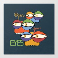 Open Your Eyes Canvas Print