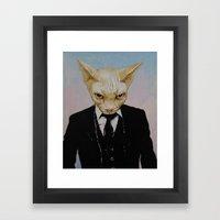 Mister Cat Framed Art Print