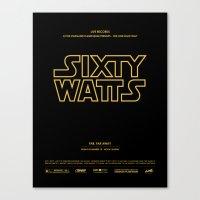 Sixty Watts C  - (far, far away) Canvas Print