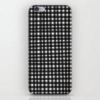 Black Gingham iPhone & iPod Skin