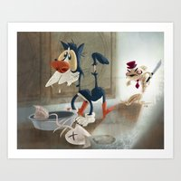 You Moidered My Wife! Art Print
