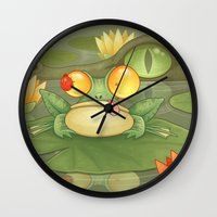 Swamp Snack Wall Clock