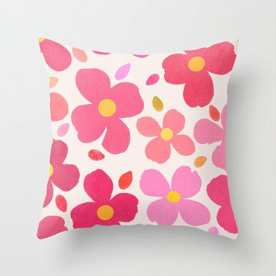 Dogwood Pink Throw Pillow