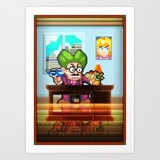 Pixel Art series 8 : My Mayor Art Print