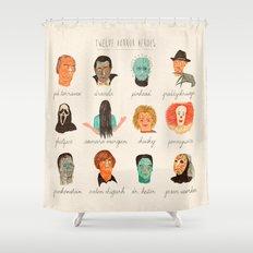 Twelve Horror Heros  Shower Curtain