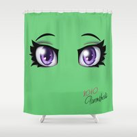 Parenthesis Humor Eyes Shower Curtain