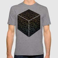 Cube Me Mens Fitted Tee Tri-Grey SMALL