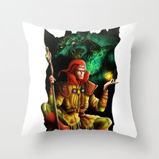 A wizard in the dark Throw Pillow