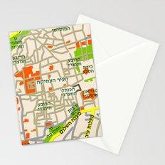 Jerusalem Map Design Stationery Cards