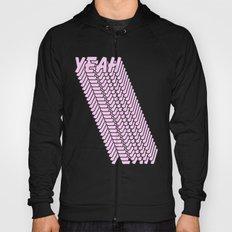 YEAH Typography Pink Blue Hoody