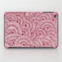 Swirls Red iPad Case