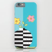 iPhone & iPod Case featuring round whimsy vases with flowers by anastasia5