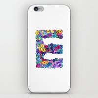 E Letter Floral iPhone & iPod Skin