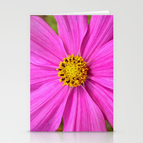 pink cosmos I Stationery Card