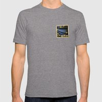 Grunge Sticker Of Europe… Mens Fitted Tee Tri-Grey SMALL