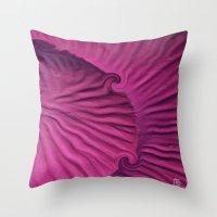 Miami Pink Snail Throw Pillow