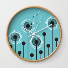 Dandelion Windblown Wall Clock