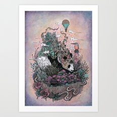 Land Of The Sleeping Gia… Art Print