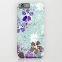 Summer Blossom, Blue And… iPhone 6 Slim Case