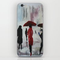 The Girl With The Red Um… iPhone & iPod Skin