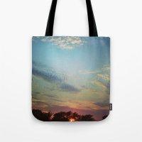 Dark Clouds File In When… Tote Bag