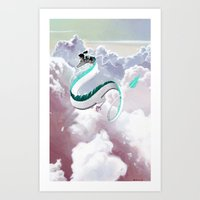 Haku (Spirited Away) Art Print