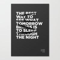 Sleep Through The Night Canvas Print