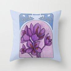 Art nouveau. Saffron. Throw Pillow
