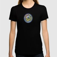 Hoopla Womens Fitted Tee Black SMALL