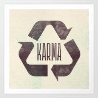 Karma Art Print