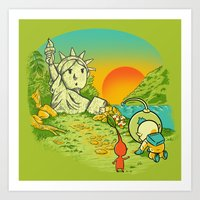 Planet Of The Pikminis Art Print
