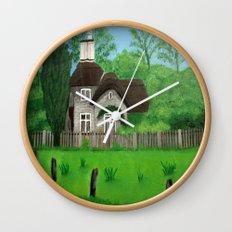 Cottage---Longleat safari park Wall Clock