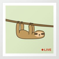 Sloth Cam Art Print