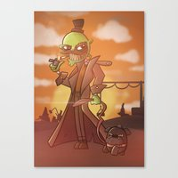 Walkin' The Dog Canvas Print