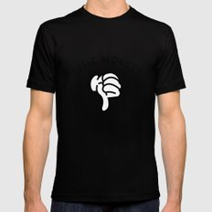 White Grid  /// www.pencilmeinstationery.com Black Mens Fitted Tee SMALL