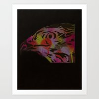 Neon Hawk 1 Of 2 Art Print