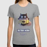 Retro Hero Womens Fitted Tee Tri-Grey SMALL