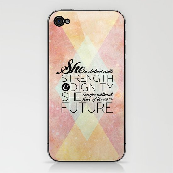 Proverbs 31 She is...  iPhone & iPod Skin