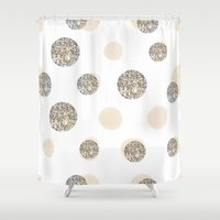 POIS CHIC WHITE Shower Curtain